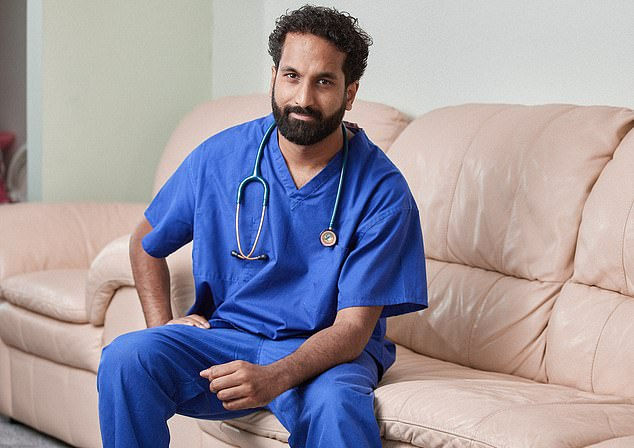 Since graduating from medical school in 2009, Dr Zeshan Qureshi (pictured at home in Essex) has enjoyed a diverse career, working on wards and writing for leading medical journals
