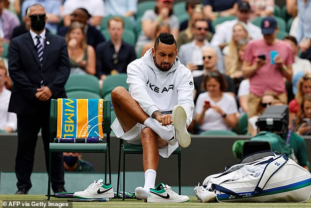 The charismatic Australian had forgotten his tennis shoes before Saturday's third-round match