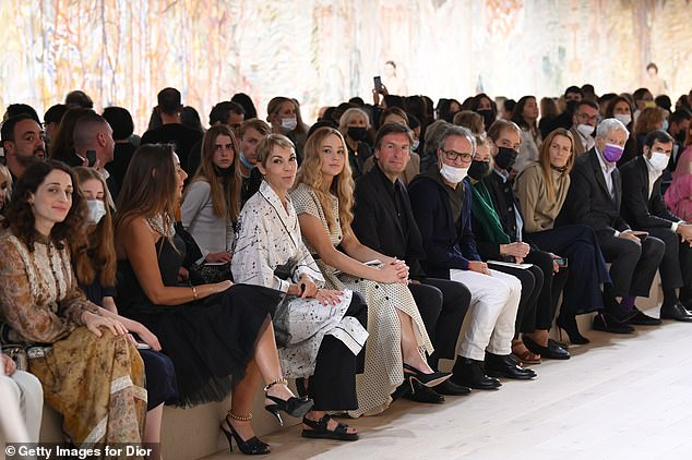 Star-studded: Jennifer was joined at the show by CEO and Chairman of Dior Pietro Beccari