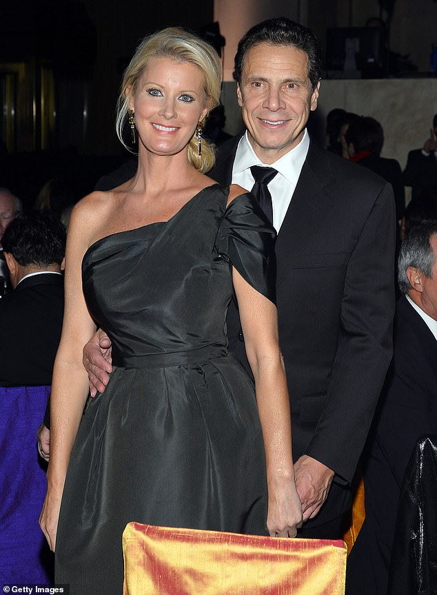The ex: She was in a relationship with New York Governor Andrew Cuomo from 2005–2019. Earlier this year the New York Post reported that he allegedly carried on affairs that staffers concealed from Sandra; seen together in 2013 in NYC