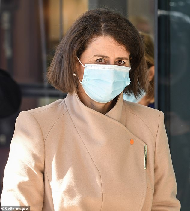 Gladys Berejiklian (pictured) is set to officially announce on Wednesday morning that lockdown restrictions will be extended after several cases on community transmission occurred between strangers