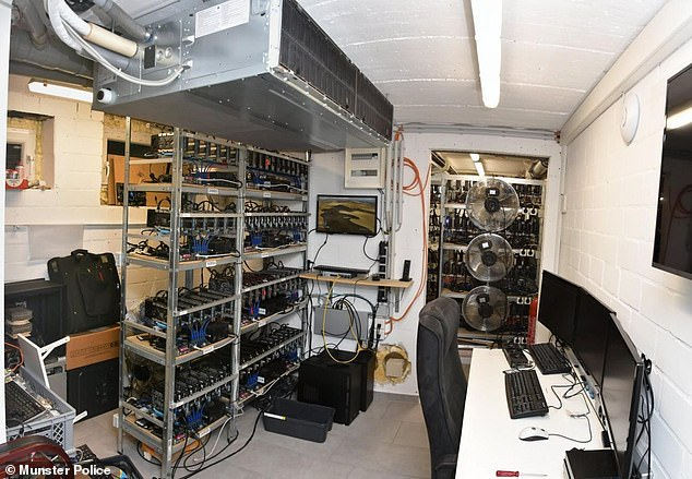 Adrian V.'s computer rig where he had downloaded more than 500 terabytes of child porn at his mother's house