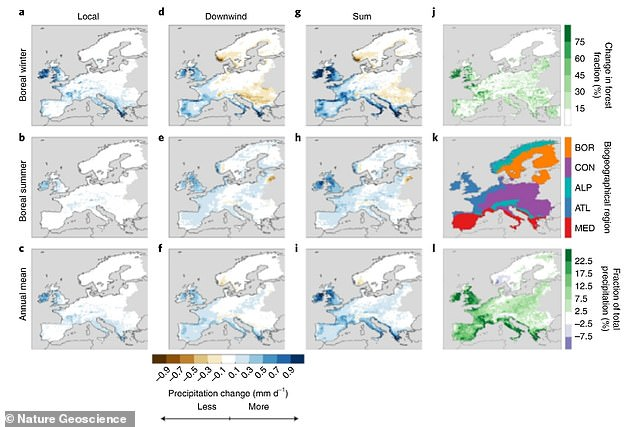 Researchers looked at the Global Reforestation Map and found that 14.4 percent of land surface is realistically suitable for forestation, specifically in the British Isles, western and southern France, Portugal, Italy and Eastern Europe