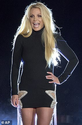Britney in 2019, in the grips of the conservatorship, in Las Vegas at her residency