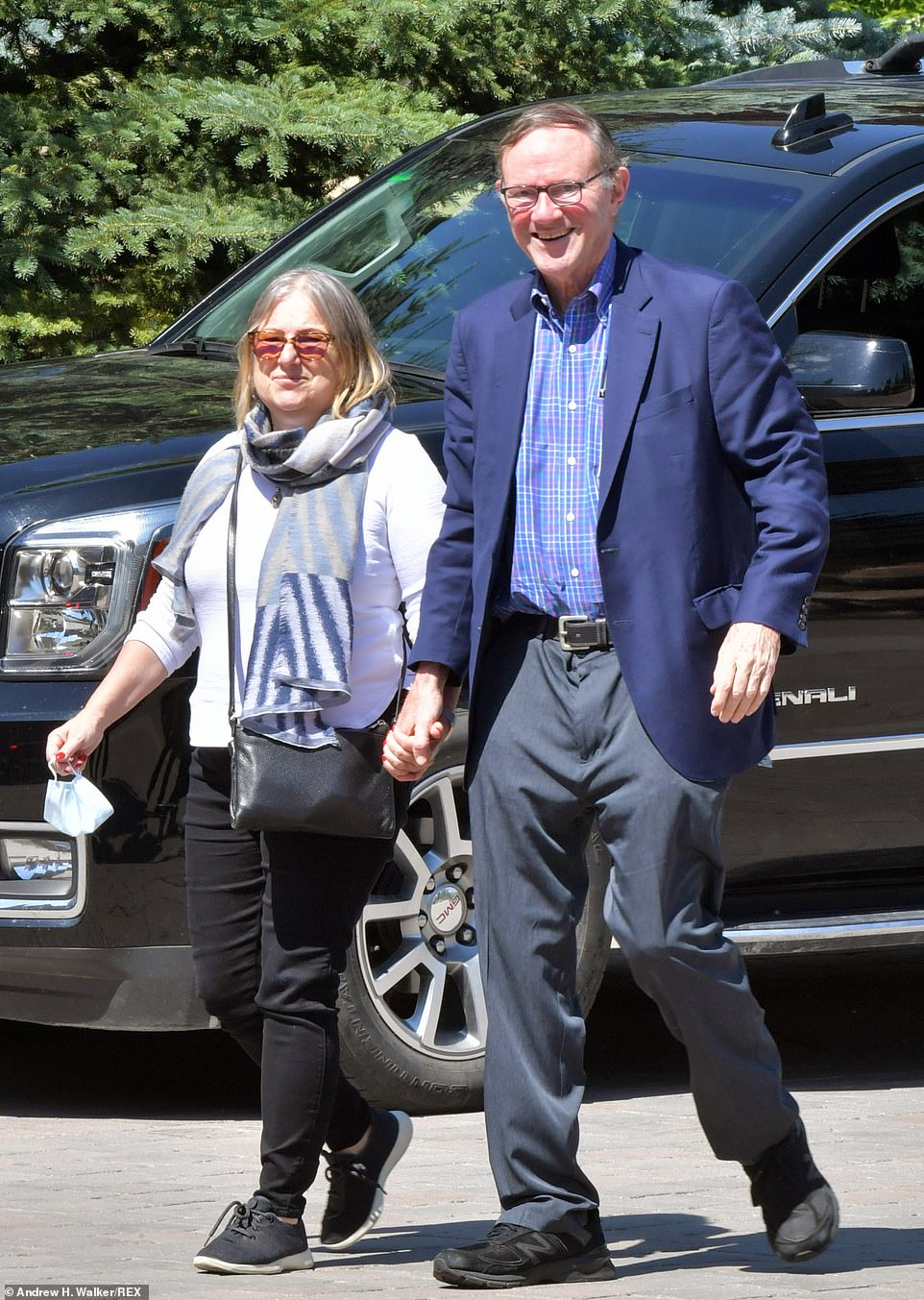Former Washington Post Publisher Donald Graham with his wife and journalist Amanda Bennett arrived at the invite-only conference