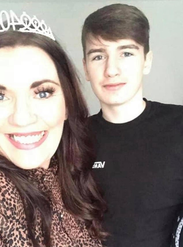 Emma pictured with Aidan on her 40th birthday before the shock diagnosis