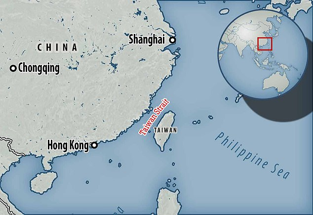 China conducted the tests in the Taiwan Strait - a contested body of water that Beijing claims, with the island, as its own