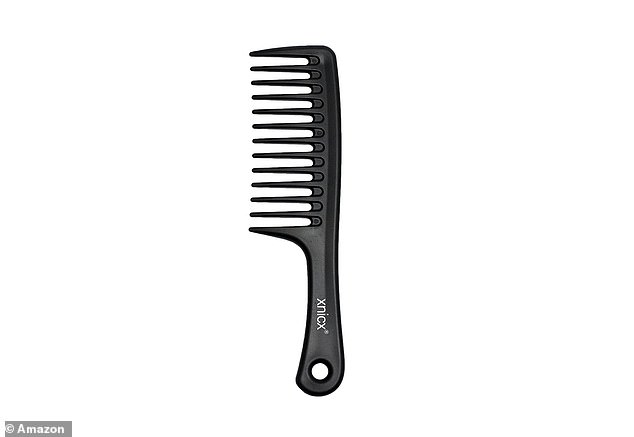 Not only is a wide-toothed comb great for detangling, but they can also help distribute product evenly through hair