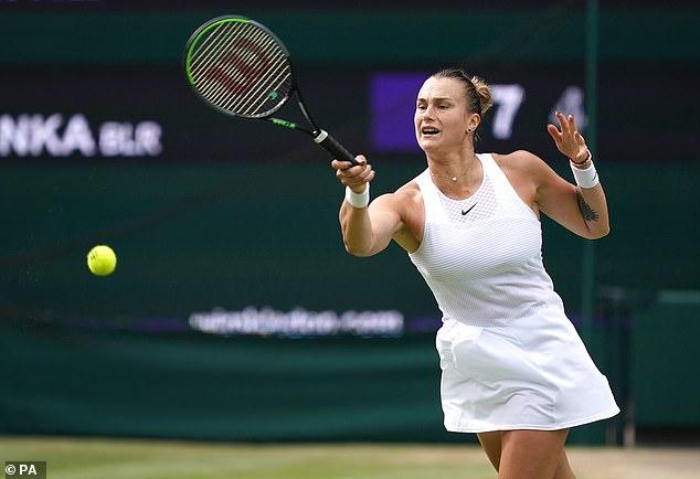 Pliskova came back from one set-down, beating Sabalenka (above) 5-7 6-4 6-4 on Thursday
