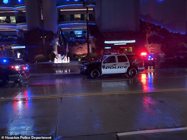 The shooting happened at the entertainment and dining complex Downtown Aquarium around 8:30 p.m.