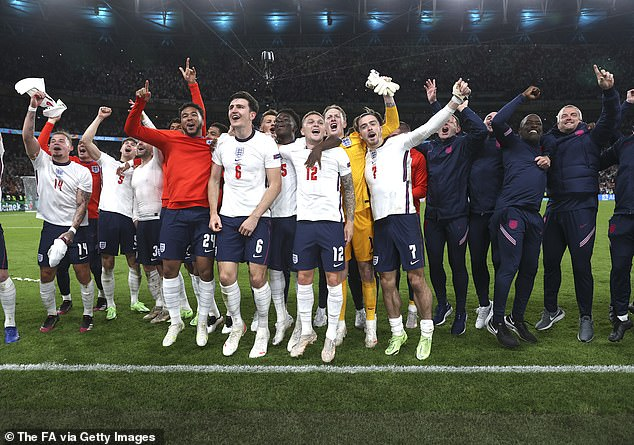 The Three Lions will contest Sunday's Euro 2020 showpiece against Italy at Wembley