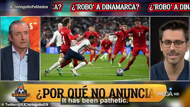 A Spanish TV show has slammed UEFA for conditioning Euro 2020 for England to win the final