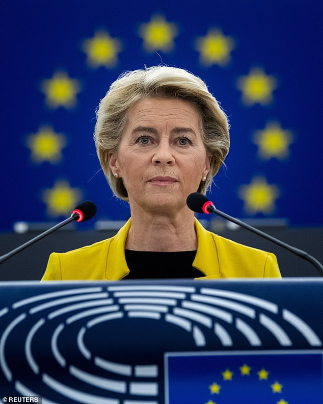EU commission president Ursula von der Leyen's spokesman told reporters in Brussels that her 'heart is with the Squadra Azzurra'