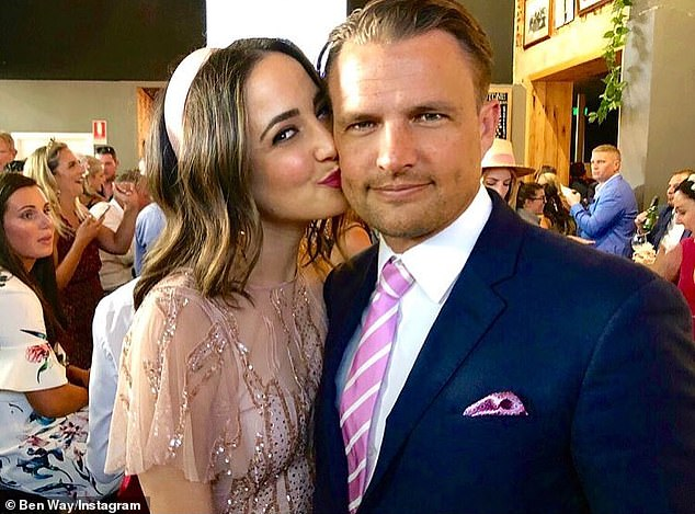 Former flame: Her budding new romance comes after the breakdown of her marriage to Sky Racing presenter Ben. Abbey and Ben married in late 2019 after three years together and split last year