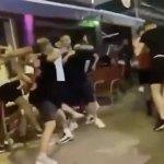 Eruo2020: Scottish and English fans in huge brawl in Ibiza 💥👩💥