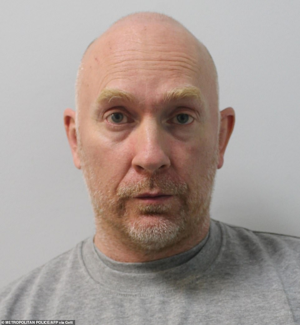 Depraved killer: The chilling police mugshot after he was detained for the murder and rape of his victim Sarah Everard