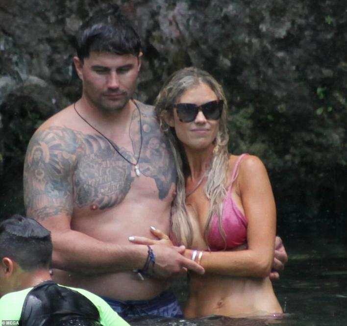 Getting close: As Ant settles into his new relationship, his ex-wife Christina Haack was enjoying a romantic getaway to Tulum, Mexico, with her new realtor boyfriend Joshua Hall. She was seen swimming with him in a fabulous pink bikini