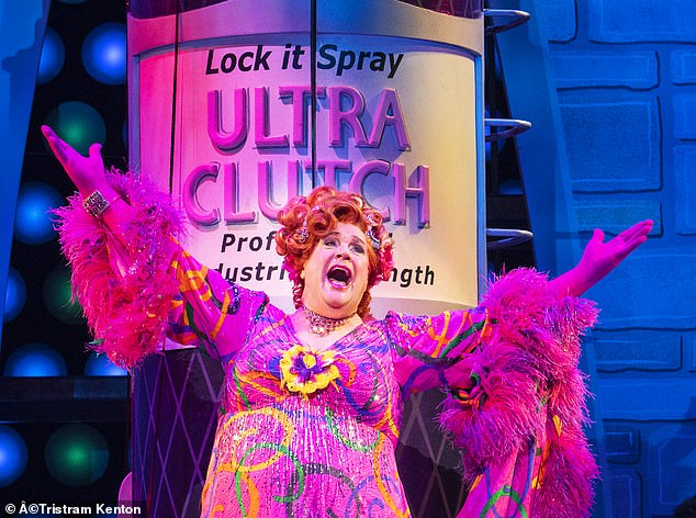 Shut again: Hairspray, starring Michael Ball (pictured),was forced to close for ten days just two weeks after opening because a member of the production team tested positive for Covid