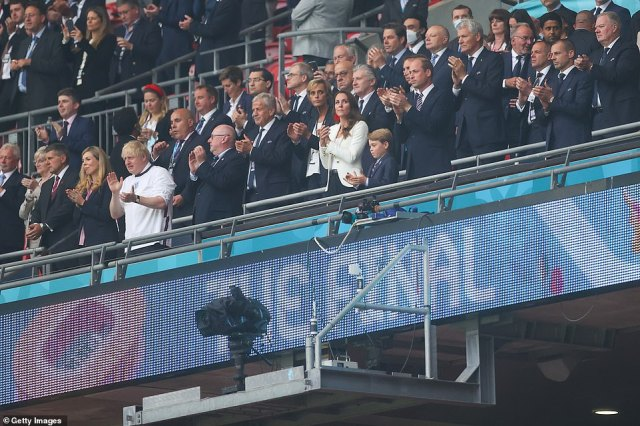 The Duke and Duchess of Cambridge and Prince George joined VIPs including the Beckhams and Tom Cruise in the box
