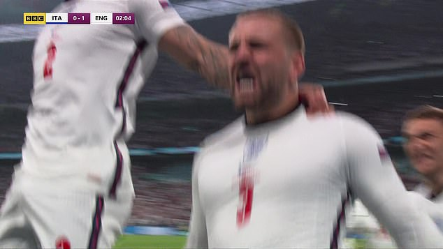 Luke Shaw netted a stunning goal on the break to settle early nerves in front of 60,000 fans as the Three Lions look to secure their first major trophy in 55 years