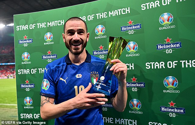 Bonucci was also named the Star of the Match after a standout performance in the final