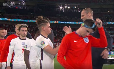 England Fans are Divided Over Players Removing Runners-up Medals as Soon as they Were Awarded Them