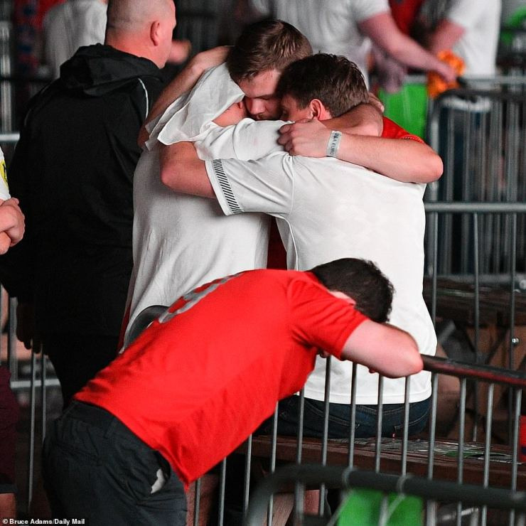 Earlier in the game, ecstasy had turned to agony for England fans, who endured a nerve-racking finale after Italy equalised to cancel out Luke Shaw's early opener
