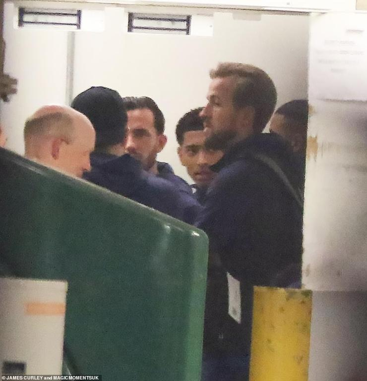 England's heartbroken players including captain Harry Kane return to the team's hotel after last night's match