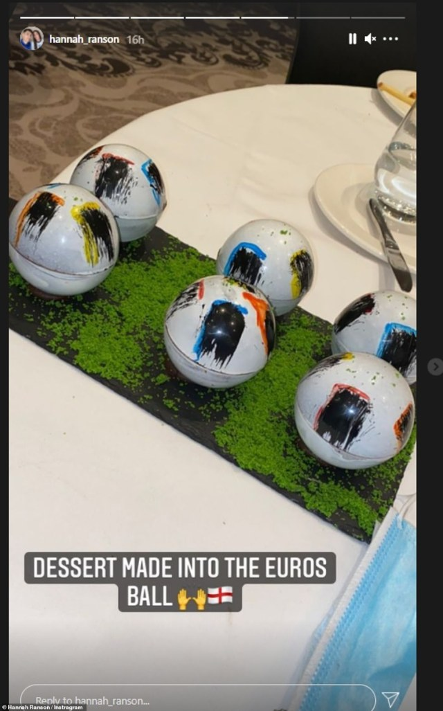Hannah Ranson, girlfriend of Conor Coady's brother Harry shared photos of the delicious desserts inside