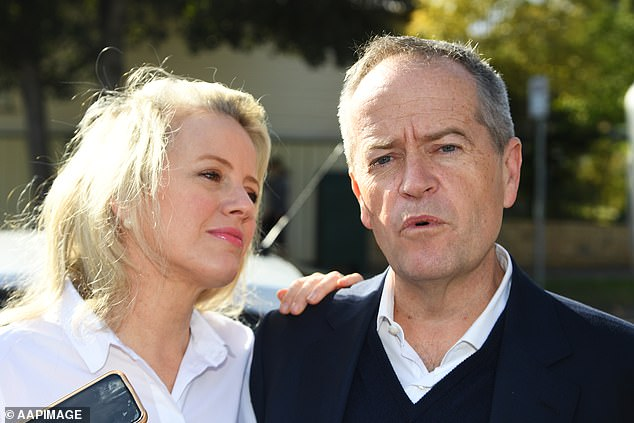 Bill Shorten (pictured with wife Chloe)has called for a 'shake-out' at the top of the agency running the National Disability Insurance Scheme