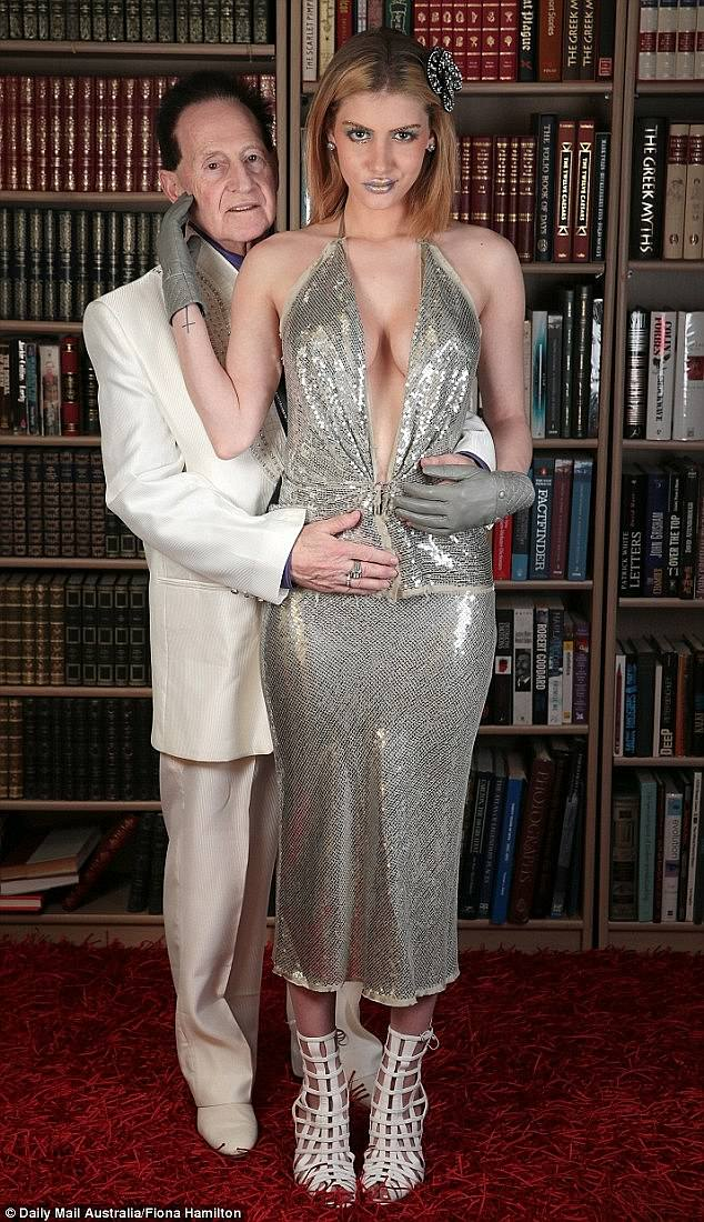 Exes: Edlesten (left) was 72 when he married the American beauty Gabi Grecko (right), who was 26 at the time, in an intimate ceremony in June 2015. They split a few months later