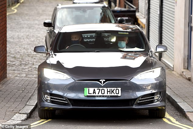 The six-month-old Tesla Model S with just 7,000 miles on the clock is on the market for £82,500 with no special premium added for its Royal pedigree