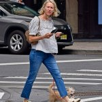Naomi Watts cuts a stylish figure as she catches up on texts while taking her dog for a walk in NYC 💥💥