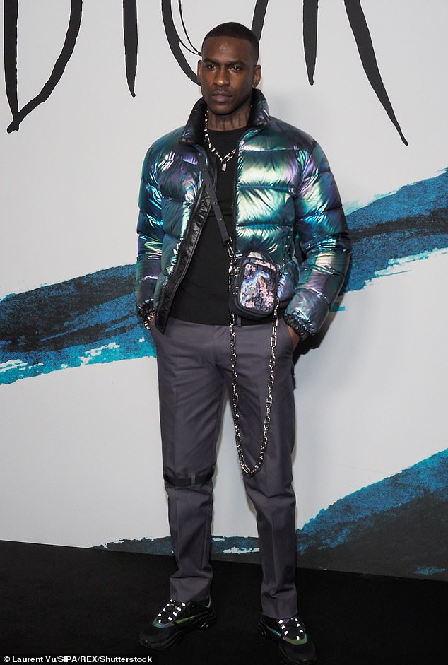 Sweet: A source told PageSix that the musicians spent 45 minutes in the store picking out clothes for Skepta (pictured in 2019)