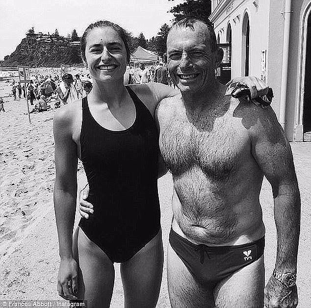 Frances with her dad, former Australian Prime Minister Tony Abbott