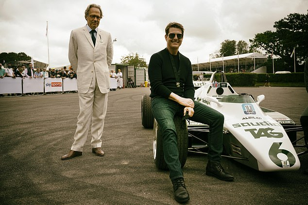The Duke of Richmond with Tom Cruise at the Goodwood Festival of Speed