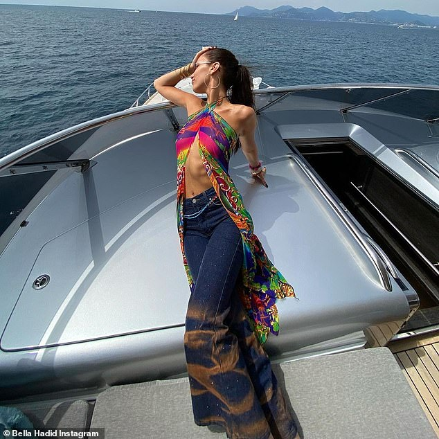 Modeling: The 24-year-old supermodel has been showing off her sensational figure at every turn since touching down in southeastern France
