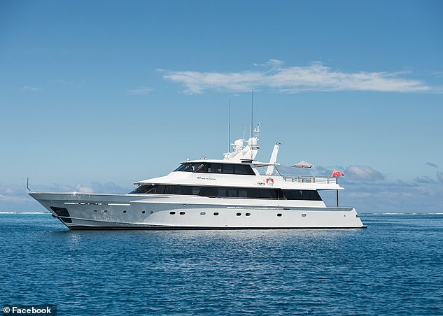The 34.5 metre superyacht Dreamtime (pictured) costs more than $18,000 a day to charter, according to online figures