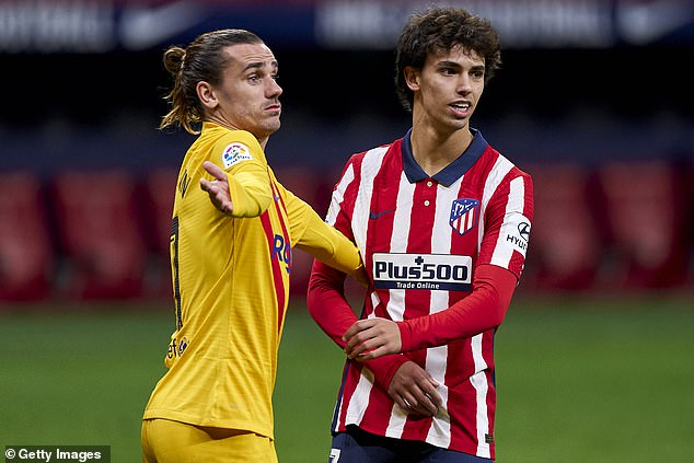 Atletico Madrid turned down a direct swap deal involving Joao Felix (right) and Barcelona's Antoine Griezmann (left), according to reports