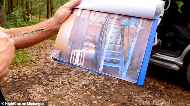 People can buy a block of land then build their own dwelling. Pictured is a blue print for a potential cabin