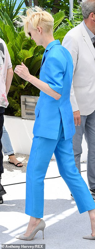 Fashion: She also sported a pair of sunglasses