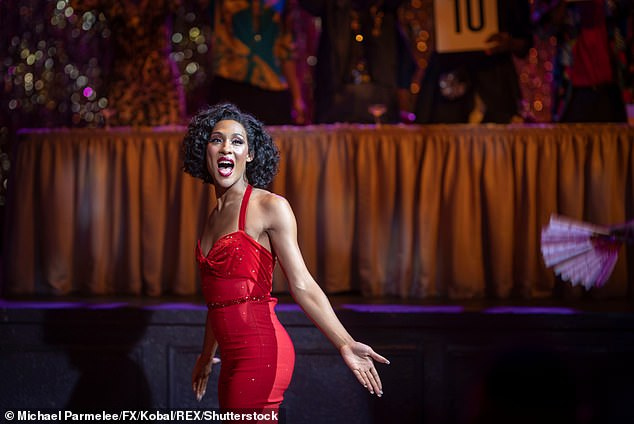 Shining star: The 30-year-old actress earned the recognition for her work starring as house mother and nurse Blanca Rodriguez-Evangelista in FX ballroom culture period drama series Pose