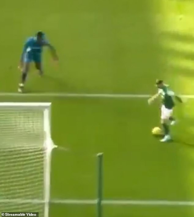 Okonkwo could then do nothing to stop Martin Boyle from going clear and tapping into the net