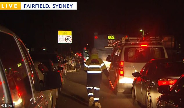 Fairfield workers arrived in droves following orders to be tested every three days, sparking traffic chaos near a 24 hour testing centre early Wednesday morning