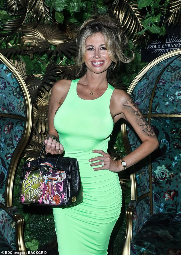 Former flame: Rob was famously married to The Real Housewives of Cheshire star Ester Dee (pictured in July)