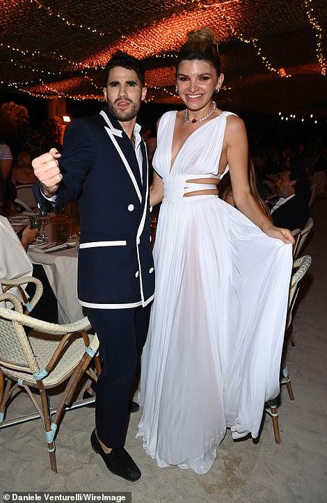 Beauty: Philanthropist Alisa Volskaya who wore a beautiful white sheer dress