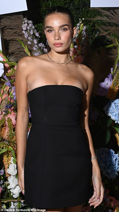 Sizzling: Hanna Cross looked incredible in a little black dress