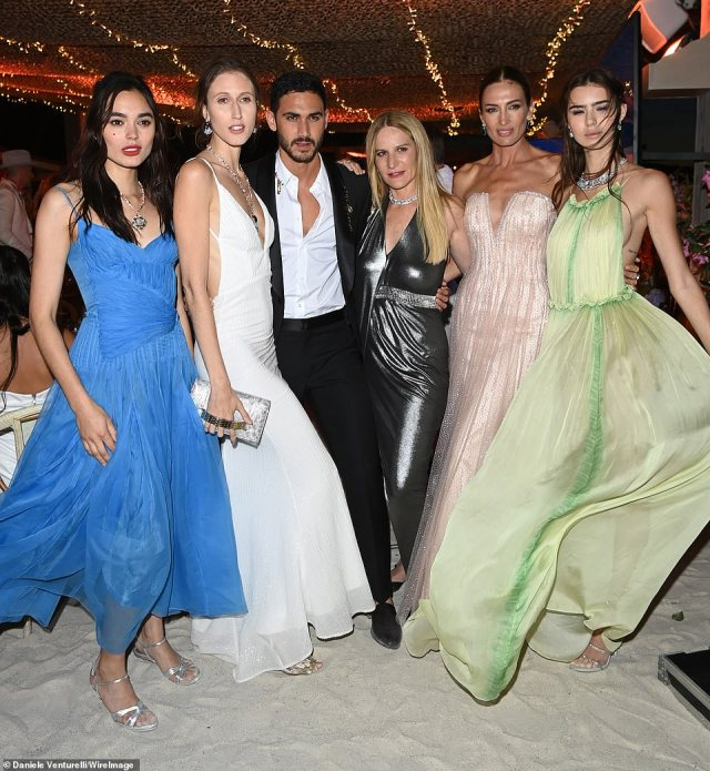 Star-studded: The French Riviera has been filled with famous faces for the past week as stars descend on Cannes for this year's film festival. Pictured left to right: Solange Smith, Anna Cleveland, Alejandro Speitzer, Elisabetta Marra, Nieves Álvarez and Helena Gatsby