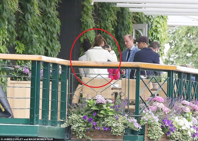 Photos show Priyanka andNatasha leaving and entering the balcony without appearing to speak to William or Kate