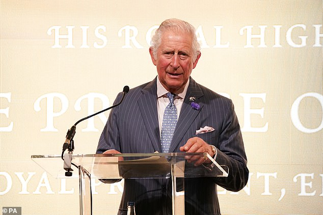 Watched by his wife, Prince Charles (pictured) said: 'The last year has shown us more than ever the importance of dealing with issues like this'